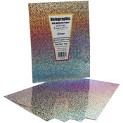 "Silver Holographic - Self-Adhesive Specialty Paper 8.5""X11"" 5/Pkg"