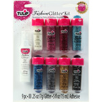 Multicolor - Tulip Fashion Glitter Kit .25oz 9/Pkg
