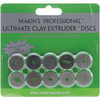 Makin's Professional Ultimate Clay Extruder Discs 10/Pkg - Stainless Steel For M