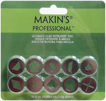 Set A - Makin's Professional Ultimate Clay Extruder Discs 10/Pkg