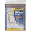 """Assorted Primary Colors - Reusable Dry Erase Pockets 9""""X12"""" 5/Pkg"""
