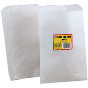 "White - Pinch Bottom Paper Bags 6""X9"" 100/Pkg"