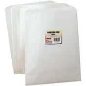 "White - Pinch Bottom Paper Bags 8.5""X11"" 50/Pkg"