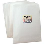 "White - Pinch Bottom Paper Bags 8.5""X11"" 50/Pkg"