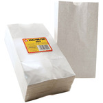 "White - Gusseted Flat Bottom Bags 4.5""X2.5""X8.5"" 100/Pkg"