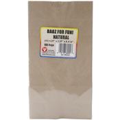 """Natural/Kraft - Gusseted Flat Bottom Bags 4.5""""X2.5""""X8.5"""" 100/Pkg"""
