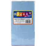 "Assorted Colors - Gusseted Flat Bottom Bags 4.5""X2.5""X8.5"" 50/Pkg"