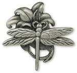 "Dragonfly - Concho Screwback 1.25"" Antique Silver 1/Pkg"