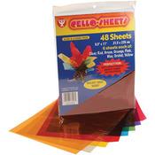 Cello Sheets 48/Pkg-6 Each Of 8 Colors