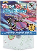 Weave Wheel Lanyard Maker 4/Pkg-