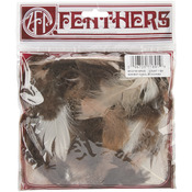Feather Assortment .25 Ounces - Guinea Hen/Biots/Satinettes/Coquille