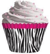 Pink Zebra 32/Pkg - Standard Baking Cups