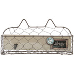 Wide Wire Basket W/Screws 9""