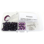 Violet Crystal Beads/Violet Pearls - Crystal & Pearl Rosary Bead Kit Makes 1