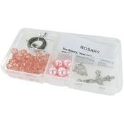 Rhodochrosite Crystal Beads/Pink Pearls - Crystal & Pearl Rosary Bead Kit Makes