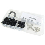 Black Crystal Beads/Black Pearls - Crystal & Pearl Rosary Bead Kit Makes 1