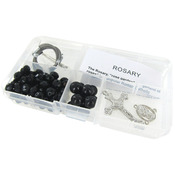 Black Crystal Beads/Black Pearls - Crystal & Pearl Rosary Bead Kit Makes 1