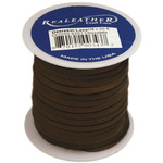 "Chocolate - Deerskin Lace .125"" Wide 50' Spool"