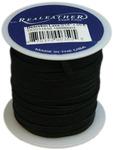 "Black - Deerskin Lace .125"" Wide 50' Spool"
