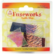 Assorted - Fuseworks Dichroic Glass Bits 1 Ounce