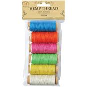 Neon - Hemp Thread 2 Ply 6 Mini Spools/Pkg
