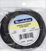 Black 2mm - Greek Leather Round Lace 16.4'