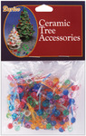 "Mini Globe-Multi - Ceramic Christmas Tree Bulb .25"" 250/Pkg"