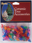 "Small Flame-Multi - Ceramic Christmas Tree Bulb .5"" 100/Pkg"