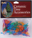 "Flame-Multi - Ceramic Christmas Tree Bulb .625"" 100/Pkg"