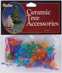 "Flame-Multi - Ceramic Christmas Tree Bulb .625"" 100/Pkg"
