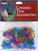 "Medium Globe-Multi - Ceramic Christmas Tree Bulb .5"" 100/Pkg"