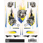 "Wolf - Pine Car Derby Dry Transfer Decal 4""X5"" Sheet"
