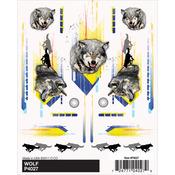 "Wolf - Pine Car Derby Dry Transfer Decal 4""X5"" Sheet"