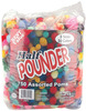 Standard - Assorted Poms Half Pounder 750/Pkg PEPPERELL-Half Pound Bag of Pom-Poms. Make crafts and toys using fuzzy pom-poms in assorted sizes and colors! This package contains one 1/2lb bag of assorted pom-poms: approximately 750 pom-poms. WARNING: CHOKING HAZARD-Small Parts. Not for children under 3 years. Imported.