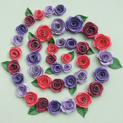 Spiral Roses - Burgundy, Red & Purple - Quilling Kit