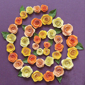 Spiral Roses - Orange, Peach & Yellow - Quilling Kit