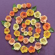 Spiral Roses - Orange, Peach & Yellow - Quilling Kit