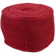 "Red - Jute Ribbon 4""X10yd"