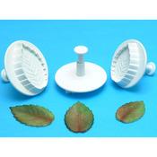Veined Rose Leaf - Plunger Cutters 3/Pkg