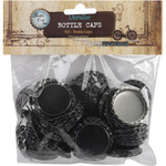 "Black - Vintage Collection Standard Bottle Caps 1"" 50/Pkg"