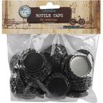 """Black - Vintage Collection Standard Bottle Caps 1"""" 50/Pkg"""