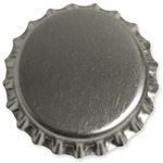 "Chrome - Vintage Collection Standard Bottle Caps 1"" 50/Pkg"