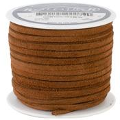 """Medium Brown - Suede Lace .125"""" Wide 25yd Spool"""