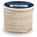 "Beige - Suede Lace .125"" Wide 25yd Spool"