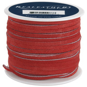 "Red - Suede Lace .125"" Wide 25yd Spool"