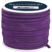 "Royal Purple - Suede Lace .125"" Wide 25yd Spool"