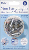 White - Non-Blinking Mini Party Lites 12/Pkg