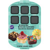 12 Cavity - Brownie Bar Pan WILTON-Brownie Bar Pan. A perfect way to create mini desserts for parties and more! This package contains one 15-3/4x10-3/4 inch pan with twelve 12-1/2x2-1/2 inch brownie bar cavities. Dishwasher safe. Imported.