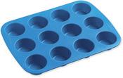 """12 Cavity 1.875""""X.875"""" - Easy-Flex Silicone Mini Muffin Pan"""
