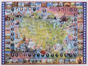 """United States Presidents - Jigsaw Puzzle American History 1000 Pieces 24""""X30"""""""